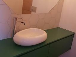 Mebelki do łazienki. MDF lakierowany na półmat.
