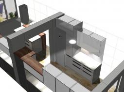 Wizualizacja kuchni nowoczesnej